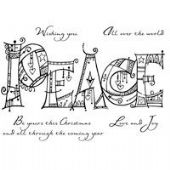 Woodware - Doodled Peace - Clear Magic Stamp Set - FRS602